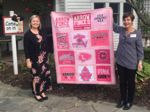 Pink Arrow Lowell Quilt
